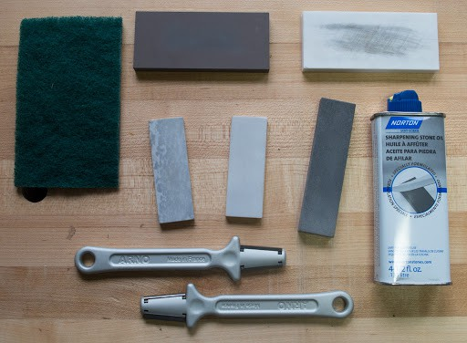 materials to clean knife